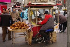 Istanbul simit cart