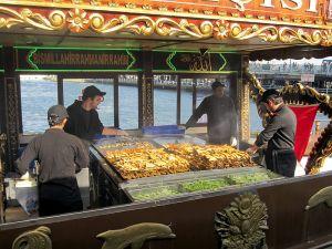 Balik Ekmek Sellers in Eminonu, Istanbul