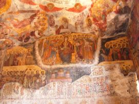 Fresco in Sumela Monastery's rock church