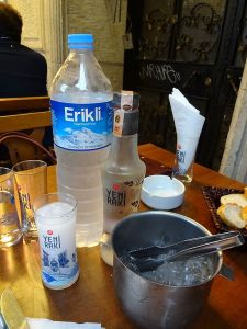 Raki with ice bucket