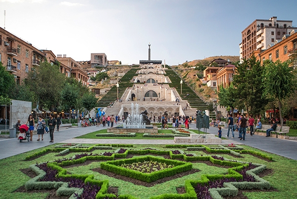 DM33PR Armenia, South Caucasus, Caucasus, Eurasia, Cascade, Complex, Yerevan, avenue, downtown, fountain, garden, new, people, landmark